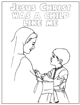 Jesus As A Child Coloring Page Design Templates