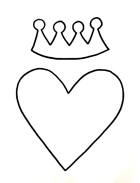 Heart Crown Drawing