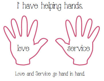 helping hands coloring page - photo #11