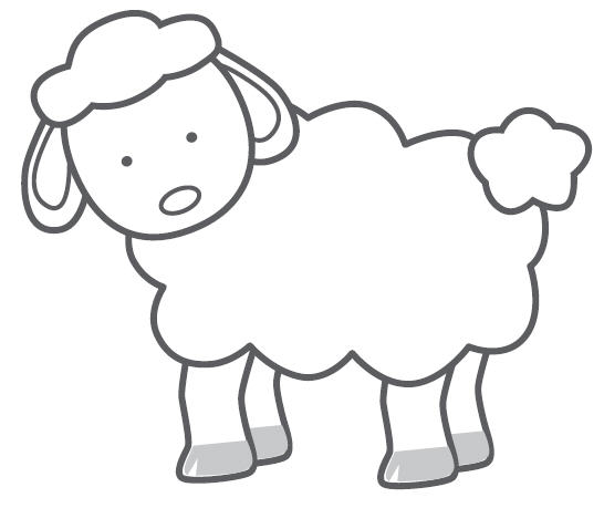 Sheep template new calendar template site for Lamb cut out template