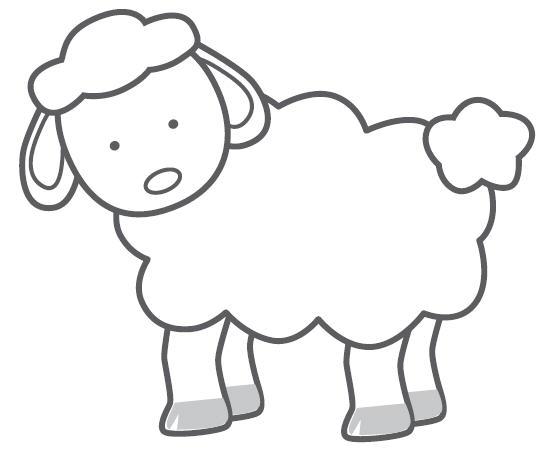 lamb cut out template - sheep template new calendar template site