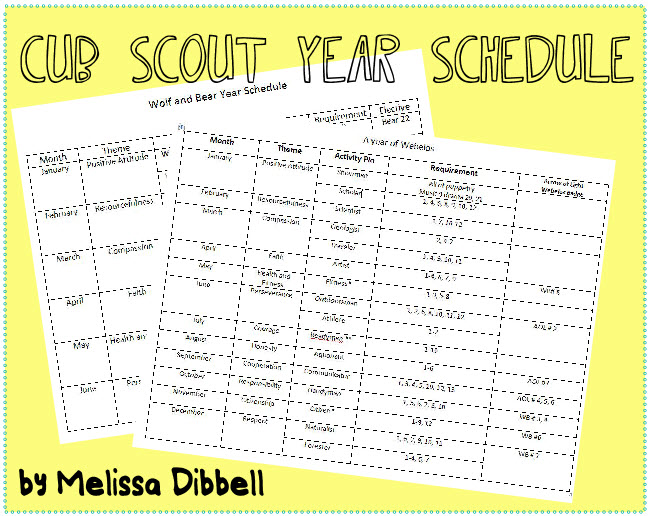Planning meeting for the planning meeting an hour a week for Boy scout calendar template