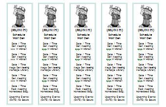 boy scout calendar template - cub scout calendar bookmarks