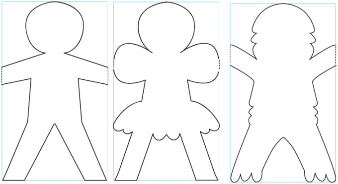 paper doll templates cut out - lesson 9 multiply and replenish the earth